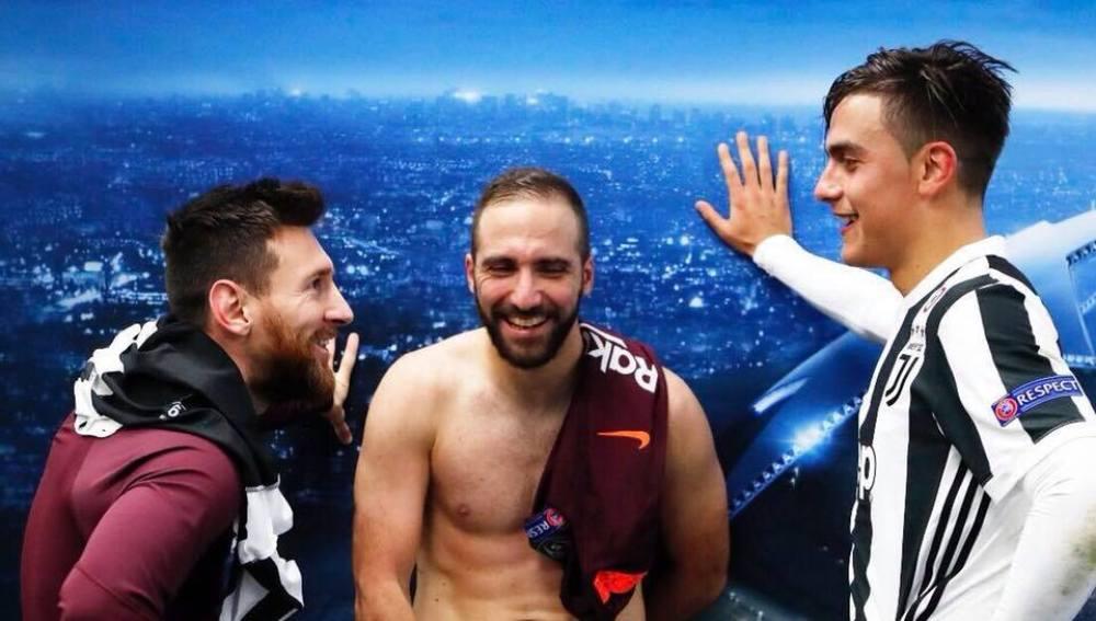 Messi, Higuaín y Dybala, después del Juve - Barça de Champions