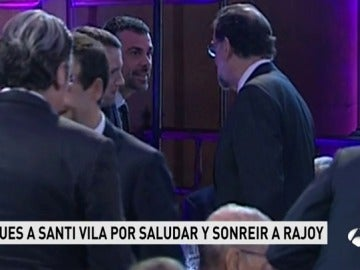 Saludo entre Rajoy y Vila