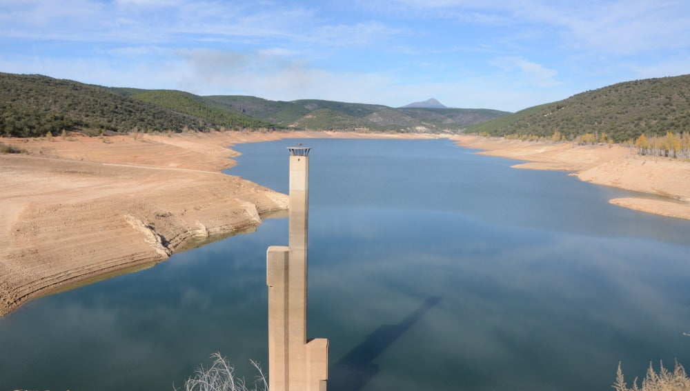El embalse de Beleña en alerta por sequía