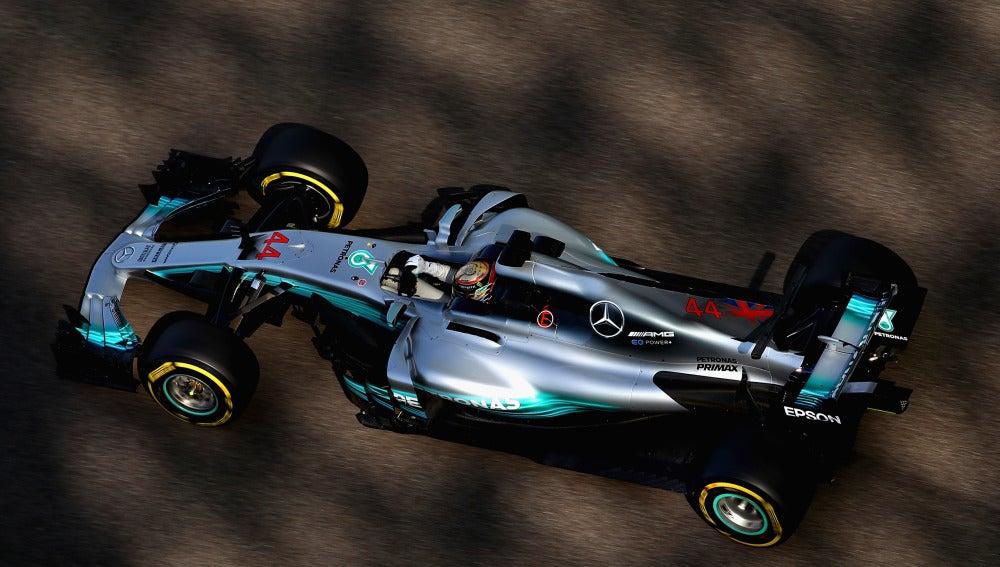 Lewis Hamilton, durante los Libres del GP de Abu Dabi