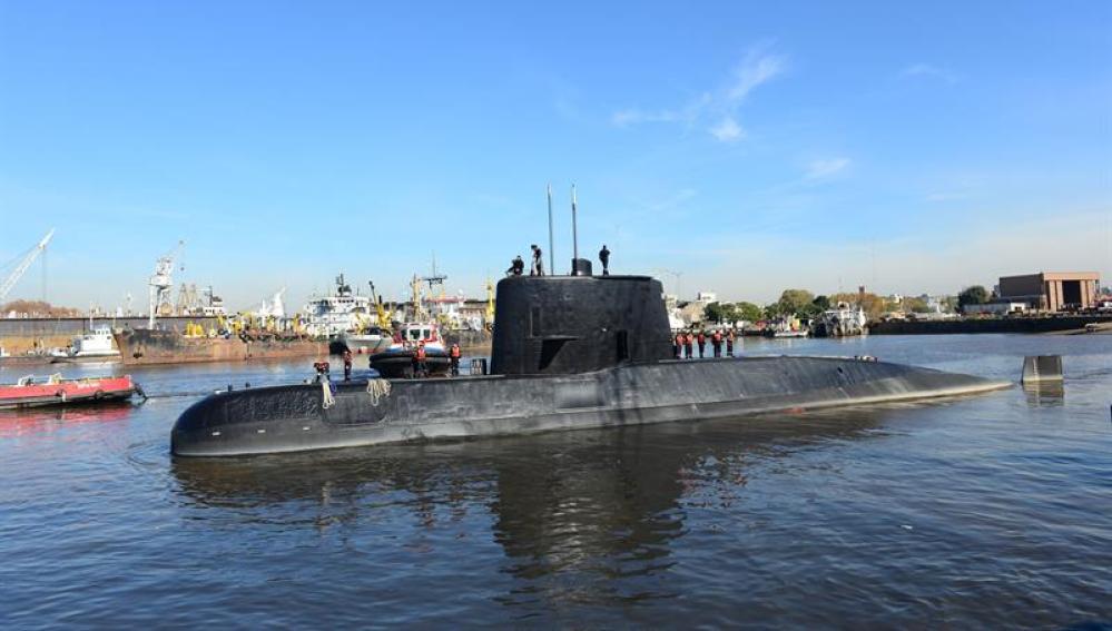 Imagen proporcionada por la Armada de Argentina del submarino ARA San Juan