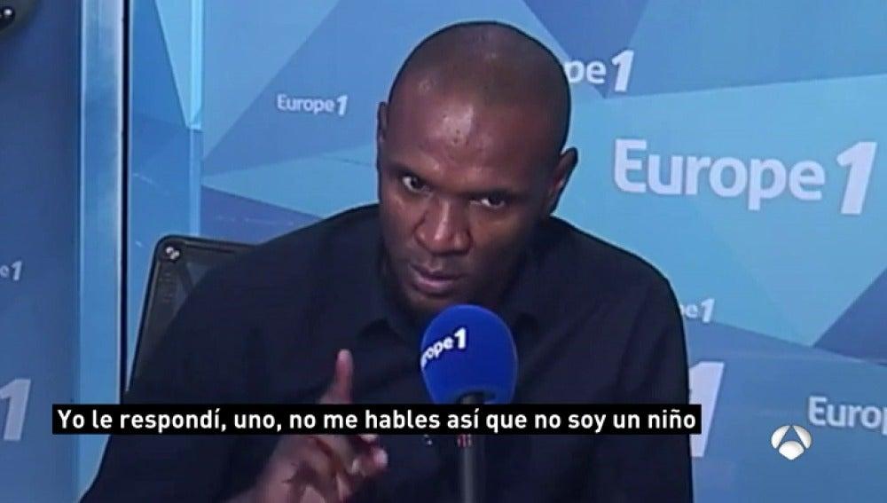 Abidal desvela una bronca con Guardiola por el idioma con el que hablaba a los compañeros