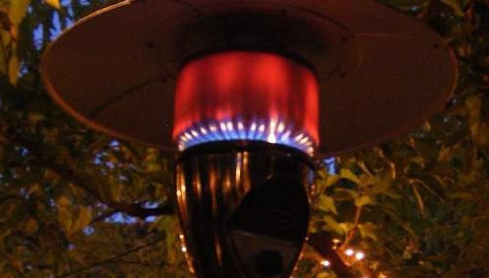 Estufas de gas en las terrazas