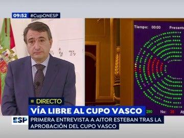 Aitor Esteban, en una entrevista en Espejo Público