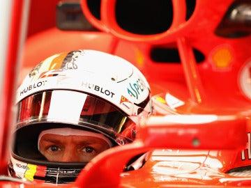 Vettel, durante el GP de Abu Dabi