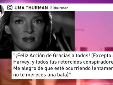 Uma Thurman habla por fin y le lanza una advertencia a Harvey Weinstein que ya vimos en 'Kill Bill'
