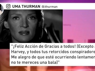 Uma Thurman habla por fin y le lanza una advertencia a Harvey Weinstein que ya vimos en 'Kill Bill'