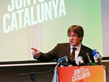 El expresidente de la Generalitat, Carles Puigdemont