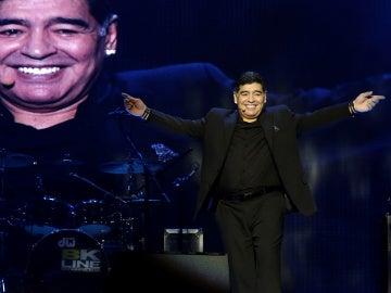 Maradona, durante un acto