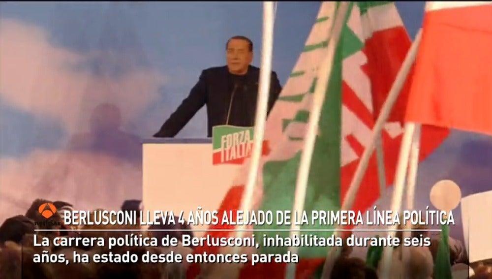 Silvio Berlusconi lleva cuatro años alejado de la primera línea política