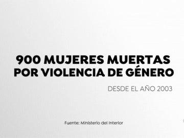 900 mujeres han muerto por violencia de género desde 2003
