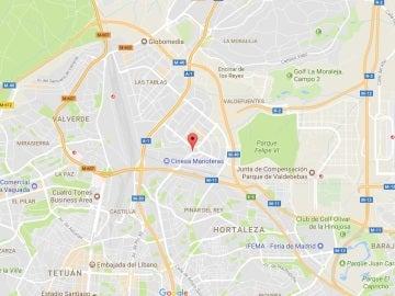 Localización de la casa desde la que disparaban con una escopeta de perdigones en Madrid