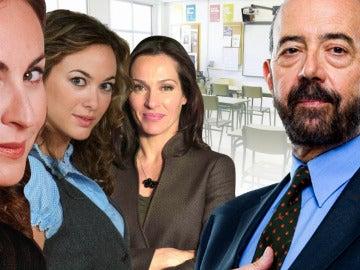 Amelia Ugarte, Natalia Millán, Olimpia Díaz y Félix Torán
