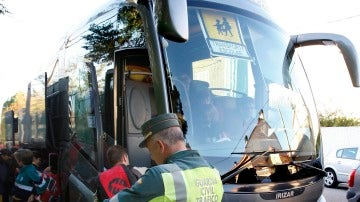 Fotografía de archivo de un autobús escolar