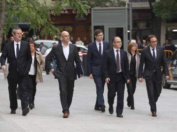 Los exconsellers del Govern encarcelados