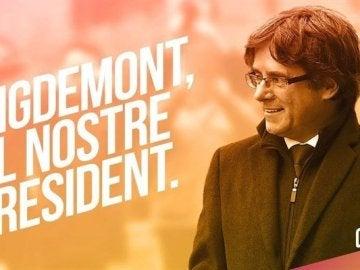 Cartel de Junts per Cataluña