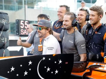 Fernando Alonso, en Yas Marina