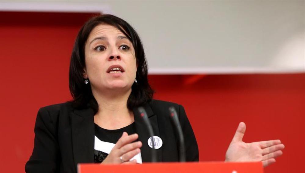 La vicesecretaria general del PSOE Adriana Lastra
