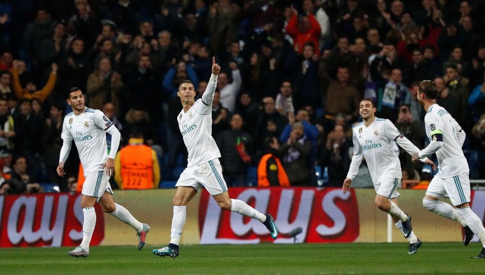 Cristiano Ronaldo celebra su gol contra el Dortmund