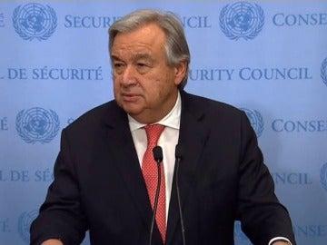 El secretario de la ONU critica las decisiones que ponen en peligro la paz