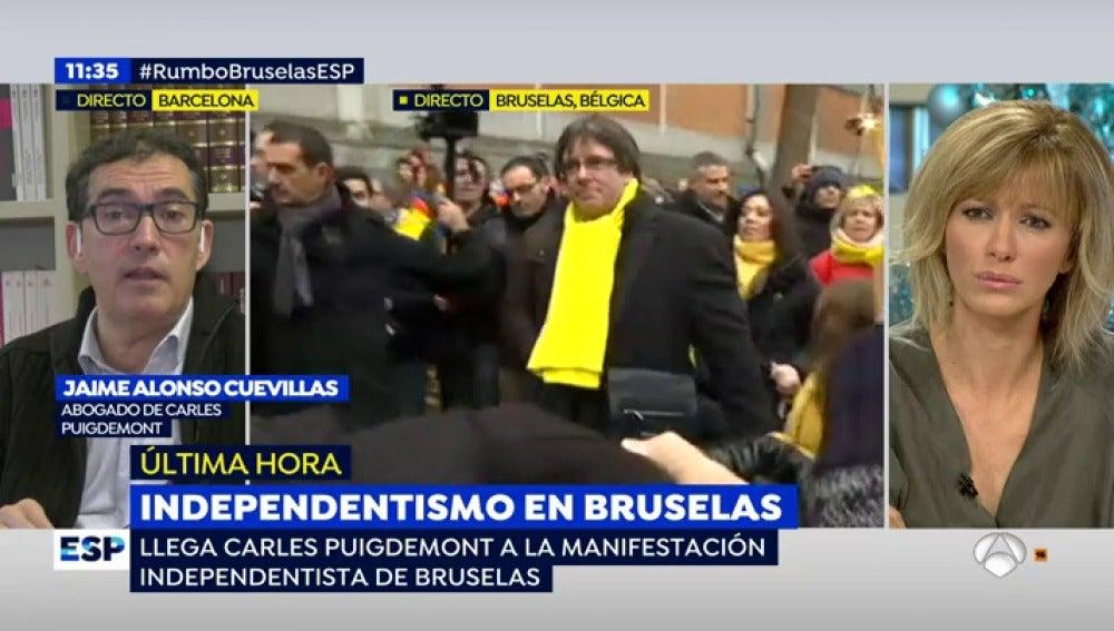 El abogado español de Carles Puigdemont, Jaume Alonso Cuevillas