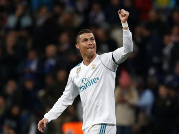 Cristiano Ronaldo celebra un triunfo del Real Madrid