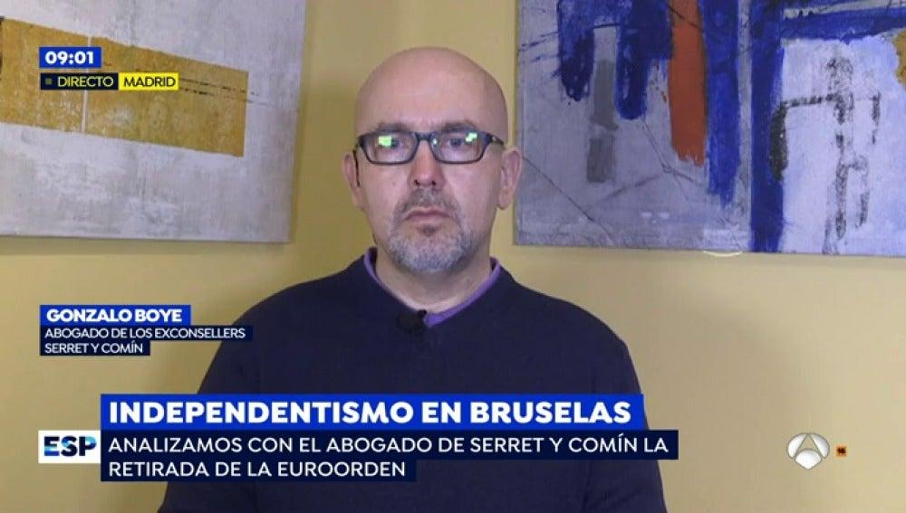 """El abogado de Serret y Comín: """"En algún momento el Tribunal Supremo va a volver a cursar la euroorden"""""""