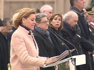 """Cospedal recuerda en Barcelona el derecho todos españoles a ser """"defendidos"""""""
