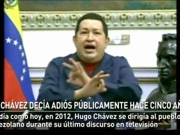Chávez decía adiós públicamente hace cinco años