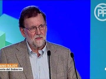 """Rajoy defiende que el voto """"útil y seguro""""  en Cataluña es al PP"""