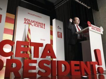 El candidato del PSC a la presidencia de la Generalitat, Miquel Iceta