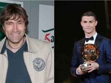 Salinas y Cristiano Ronaldo