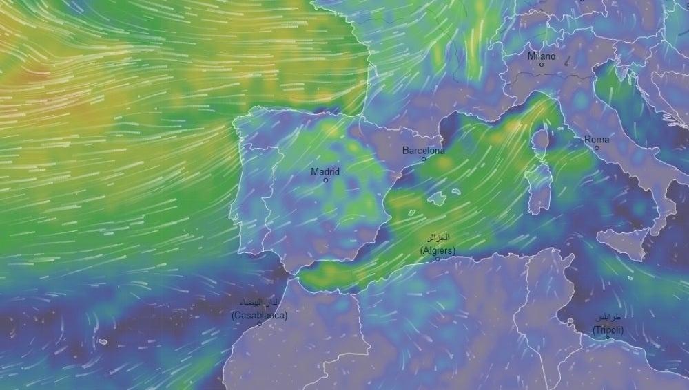 Ventusky, mapa interactivo y en directo del tiempo
