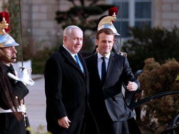 Netanyahu y Macron