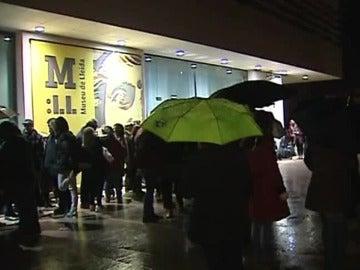 Protestas frente al Museo de Lleida
