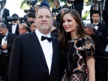 Harvey Weinstein y su exmujer Georgina Chapman