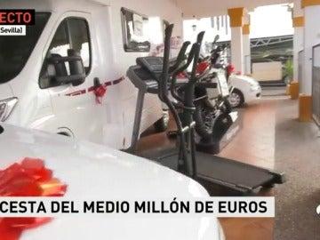 Una venta en Utrera sortea una cesta de Navidad por valor de medio millón de euros
