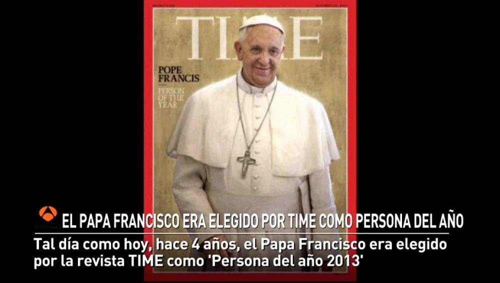 El Papa Francisco era elegido como persona del año por TIME a los nueve meses de su proclamación