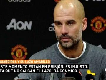 """Guardiola: """"Quizá nuestros hijos cuando crezcan vayan a prisión por no estar de acuerdo con el Estado"""""""