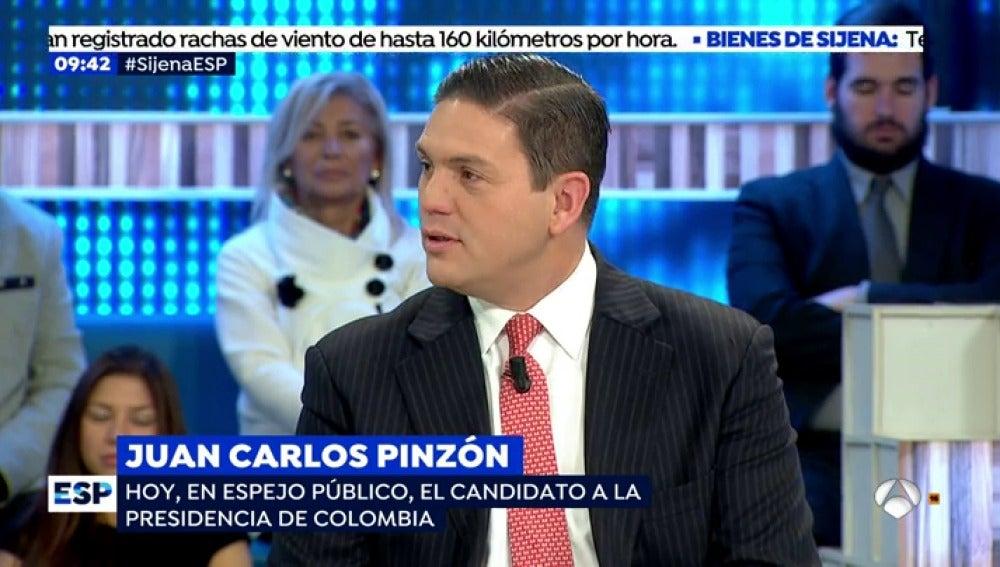 Juan Carlos Pinzón, candidato a la presidencia de Colombia