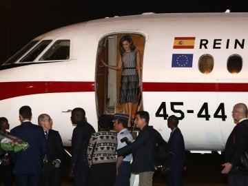 La Reina Letizia a su llegada a Dakar
