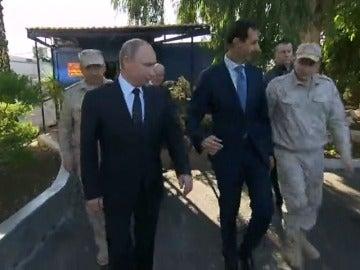 Putin llega por sorpresa a Siria