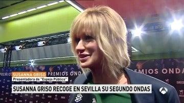 """Susanna Griso recoge su segundo Premio Ondas: """"Ha sido una ilusión muy grande en un año muy complicado"""""""