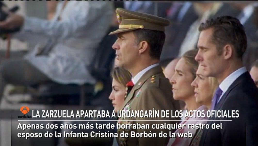 La Zarzuela apartaba a Urdangarín de los actos oficiales hace seis años