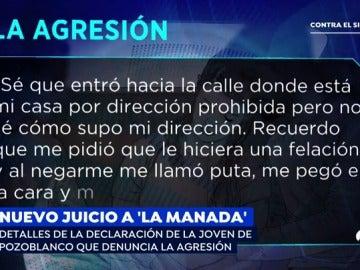 'Espejo Público' desvela los detalles de la declaración de la joven de Pozoblanco que denuncia la agresión de 'La Manada'