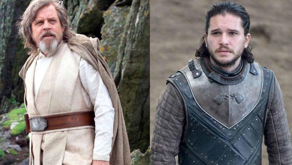 Luke Skywalker y Jon Snow