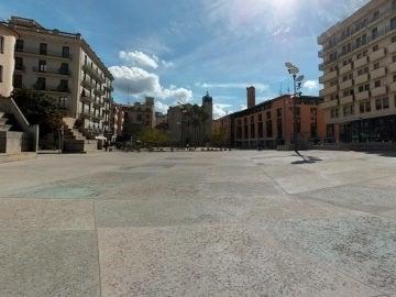 Plaza de la Constitución en Girona