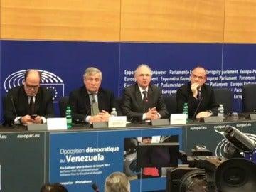 La oposición venezolana recibe el premio Sájarov de la Eurocámara