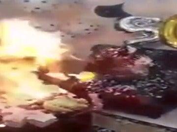 Dos jóvenes heridas al incendiarse la espuma de aerosol durante un cumpleaños