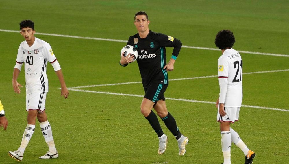Cristiano Ronaldo tras anotar el 1-1 ante Al Jazira